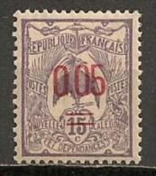 Timbres - Océanie - Nouvelle-Calédonie - 1905-1907 - 15 C. - Surchargé 0.05 - N° 126 - - Nouvelle-Calédonie