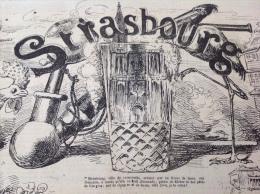 1869 Journal L´ECLIPSE - STRASBOURG Caricature D´André GILL - LE SCIEUR LAFERRIERE (du Rappel ) Par A GILL - 1850 - 1899