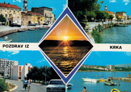 POZDRAV  IZ  KRKA     MULTIVEDUTE      (VIAGGIATA) - Yugoslavia