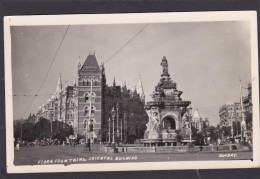 Antique Card, Flora Fountain & Oriental Building, Bombay, India,K3. - India