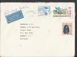 SWEDEN Airmail 1980 Farmer Kronblom 1.15k, 1.15k Postal History Cover Sent To Pakistan. - Comics