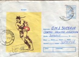 Romania - Postal Stationery Envelope Used 1996 -Rugby - Rugby