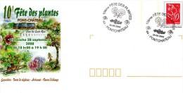 PONT-CHATEAU (LOIRE ATLANTIQUE) : Oblitération Temporaire 2008 FETE DES PLANTES Sur PAP CONCORDANT - Végétaux