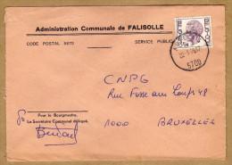 Enveloppe Brief Cover Elström Administration Communale De Falisolle Auvelais - Belgique