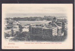 Antique Card, Esplanade Hotel, Sailor`s Home And Harbour From Clock Tower, Bombay, India,K3. - India