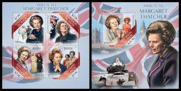 SOLOMON Isl. 2013 - Margaret Thatcher - YT 1803-6 + BF208; CV = 27 € - Beroemde Personen