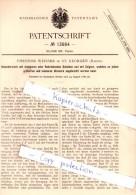 Original Patent - T. Weisser In St. Georgen , Baden , 1880 , Kalenderwerk Mit Scheiben Und Zeigern !!! - Antike Uhren