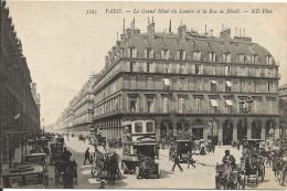 PARIS  -  Hôtel  Du  Louvre  Et  Rue De Rivoli  /  Autobus Ligne 31  Station  Métro - Arrondissement: 01