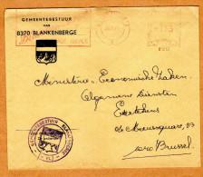Enveloppe Brief Cover Gemeentebestuur Van Blankenberge - Cartas