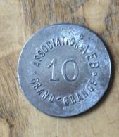 Association AEB Grand Grange 10  ... ????  Autre Face Lisse. - France
