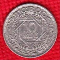 1 PIECE MAROC EMPIRE CHERIFIEN MAROCCO AN 1366 - 10 FRANCS (N°53) - Maroc