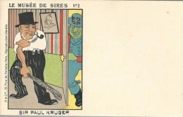 CPA - POLITIQUE SATIRIQUE - LE MUSEE DE SIRES - N21 - SIR PAUL KRUGER