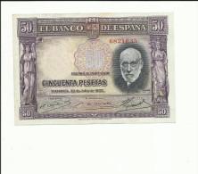 BILLETE 50 PESETAS 1935 - [ 2] 1931-1936 : Repubblica