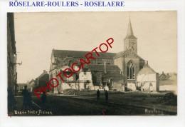 RÖSELARE-ROULERS-CARTE PHOTO Allemande-Guerre-14-18-1 WK-BELGIEN-BELGIQUE-Flandern- - Roeselare