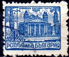 BULGARIA 1947 National Theatre, Sofia - 4l. - Blue  FU - Usados