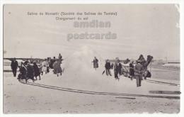 Tunisia / Tunisie Saline De Monastir, Cargement Du Sel / Loading Of Salt On Rail Wagons C1910s Postcard CPA [8489] - Tunesien