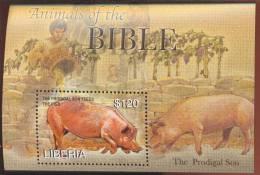 MINT NEVER HINGED SOUVENIR SHEET OF ANIMALS  #  0677-6 ( LIBERIA  2391