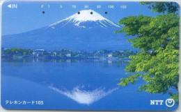 Telefonkarte Japan -  Gebirgslandschaft - 111-015 - Gebirgslandschaften