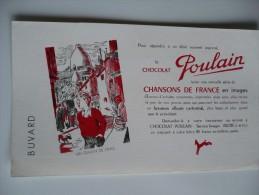 BUVARD Chocolat  POULAIN Un GAMIN De PARIS Série Chansons De France. Années 50. TBon Etat MONTMARTRE SACRE COEUR - Cocoa & Chocolat