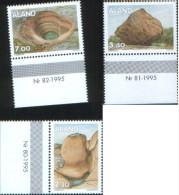 Aland 1995 Rocce Glaciali  3v Complete Set ** MNH - Aland