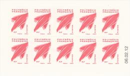 "French Polynesia, Definitive ""Marara"", Flying Fish, Red, 2011, MNH VF  Booklet Of 10 - French Polynesia"