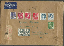 ALGERIE ENVELOPPE RECOMMANDER AN 1946