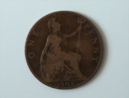 Grande-Bretagne 1 Penny 1902 - 1902-1971 : Monnaies Post-Victoriennes