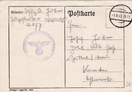 Feldpost WW2: From The Area Around Pontarlier In France - Stab Panzerjäger-Abteilung 47 FP 12077 P/m 1.9.1940 - Plain Po - Militaria