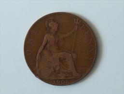 Grande-Bretagne 1 Penny 1908 - 1902-1971 : Monnaies Post-Victoriennes