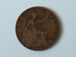 Grande-Bretagne 1 Penny 1913 - 1902-1971 : Monnaies Post-Victoriennes