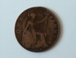 Grande-Bretagne 1 Penny 1914 - 1902-1971 : Monnaies Post-Victoriennes