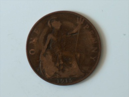 Grande-Bretagne 1 Penny 1915 - 1902-1971 : Monnaies Post-Victoriennes