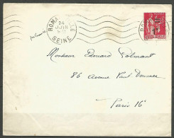 ENVELOPPE FRANCE 1941 AVEC N� 483