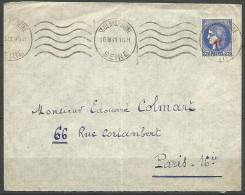 ENVELOPPE FRANCE 1941 AVEC N� 487