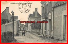 Dept 86 Scorbé Clairvaux Rue De La Gare    ( Scan Recto Et Verso ) - Andere Gemeenten