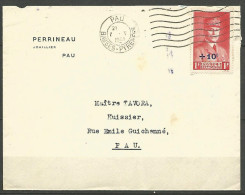 ENVELOPPE FRANCE 1941 AVEC N� 494