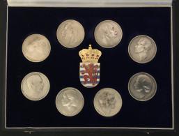 """. Luxembourg (Luxemburg) - Komplette Serie der 8 Medaillen """"Dynastie"""" (BIL) 1982 in Silber (Argent, Silver)"""