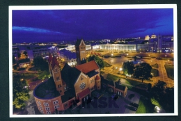 BELARUS  -  Minsk  View By Night  Used Postcard As Scans - Belarus