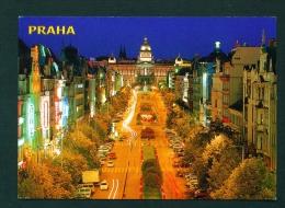 CZECH REPUBLIC  -  Prague  Wenceslas Square  Used Postcard As Scans - Czech Republic