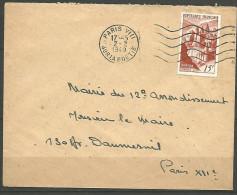 ENVELOPPE  FRANCE 1949 AVEC  N�  792
