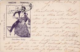 Engeland - Transvaal Dum-Dum Galop spotprent 2e Boerenoorlog cartoon 2nd Boer War # 1899