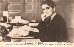 Suzanne LACORE - Comit� Nationale des Femmes Socialistes - Sous-Secr�taire d'Etat � la Protection de l'Enfance