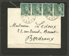 ENVELOPPE 1941 AVEC TYPE MERCURE N� 411