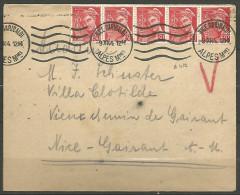 ENVELOPPE 1944 AVEC TYPE MERCURE N� 412