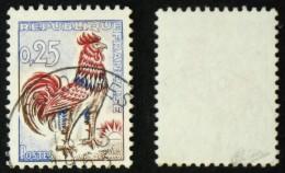 N° 1331d 25c COQ FLUO TB Cote 65€ Signé Calves - 1962-65 Coq De Decaris