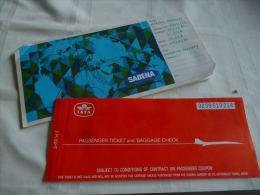 LC118 AA1-16  Ticket IATA Sabena Airlines 1979