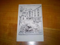 Carte Commerciale Dessinée éditée Par La Cigogne à Aurillac De L'Hôtel Coutel Beauséjour De Vic Sur Cère - Non Classificati