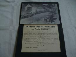 LDM-2 LC118 Lettre de mort Yvette MAUCLET HUYGENS Montignies-sur Sambre 1922 1943 PRIEUX DUMONT