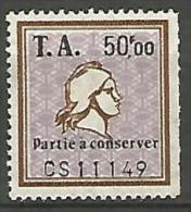 FISCAUX / AMENDES  N° 11  PARTIE A NEUF - Steuermarken