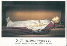 S. PURISSIMA V. E M. - MILANO  - Mm.80 X 115 - SANTINO MODERNO - Religione & Esoterismo